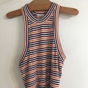 A size XS striped crop top from Garage